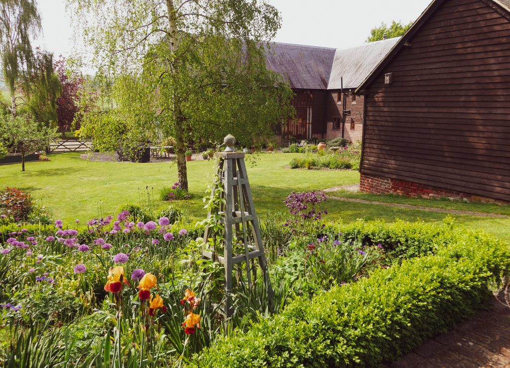 The garden at North Downs Barn